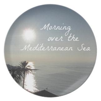Morgen über dem Mittelmeer Teller