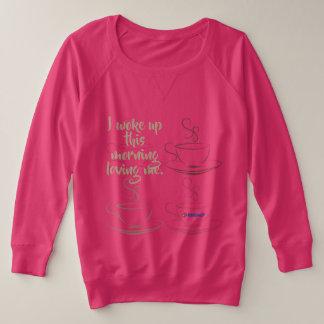 Morgen-Vertrauen! Plusgrößen-Sweatshirt Große Größe Sweatshirt