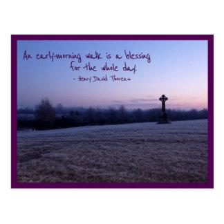 Morgen-Weg (Tullamore keltisches Kreuz) Postkarte