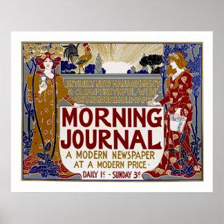 Morgen-Zeitschrift Poster