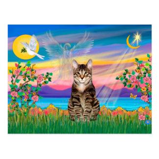 Morgens. SHtabby-Tiger-Katze - Schutzengel (#2) Postkarte