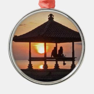 Moring in Bali-Insel Silbernes Ornament