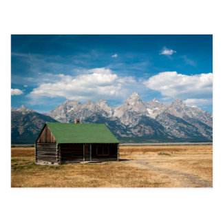 Mormonische Reihe in großartigem Teton Postkarte