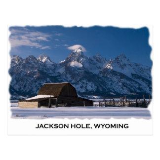 Mormonische Reihe und das Tetons Postkarte