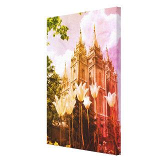 Mormonischer Tempel-Kunst Salt Lake Citys Leinwanddruck