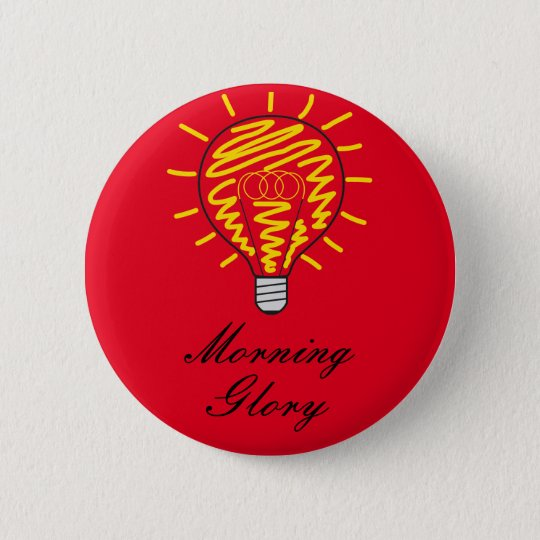 Morning Glory Runder Button 5,1 Cm