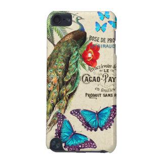 Morpho Schmetterlings-Pfau-Blumen-Kakao-Gerät-Fall iPod Touch 5G Hülle