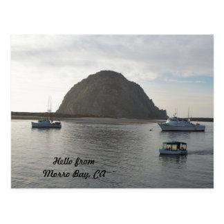Morro Felsen an Morro Bucht, CA Postkarte