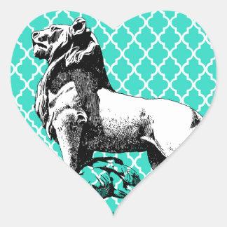 morrocco Löwe Herz-Aufkleber