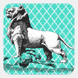 morrocco Löwe Quadratischer Aufkleber
