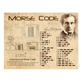 Morsealphabet Postkarte