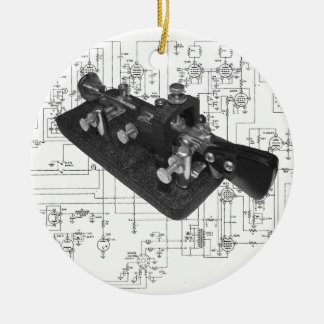 Morsealphabet-Radioschlüsseldiagramm Keramik Ornament