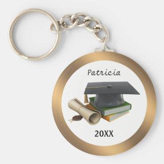 Mörser u. Diplom Keychain Standard Runder Schlüsselanhänger