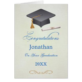 Mörser-und Diplom Abschluss-Glückwünsche Gard Karte