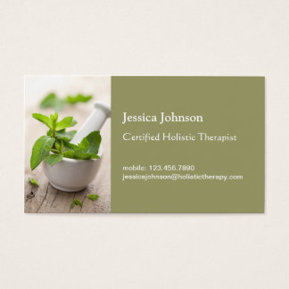 Mörser-und Stampfe-Ganzheitstherapie-Visitenkarte Visitenkarte