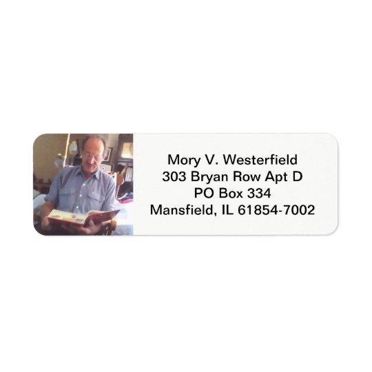 Mory V. Westerfield Rücksendeadressen-Aufkleber Kleiner Adressaufkleber