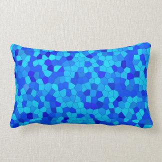 Mosaic pattern blue tones - pillow 100% cotton kissen