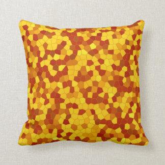 Mosaic YellowRedBrown - Kissen/Pillow 100% cotton Kissen