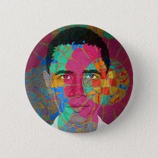 Mosaik-ähnlicher Knopf Obama Runder Button 5,7 Cm