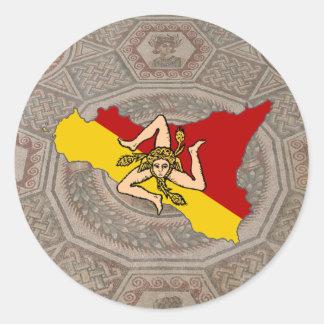 Trinacria geschenke for Mosaik aufkleber