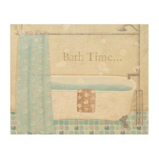 Mosaik-Badezimmer Holzleinwand