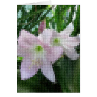 Mosaik blaß - rosa Amaryllis 4 Karte