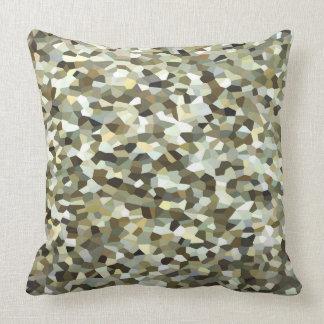 Mosaik deckte Braun mit Ziegeln Kissen