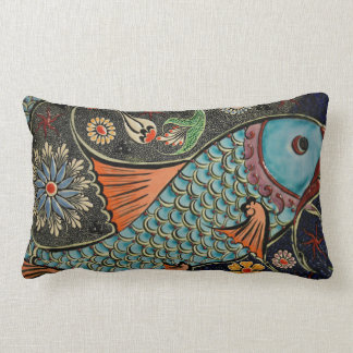 Mosaik-Fische entwerfen lumbales Wurfs-Kissen Lendenkissen