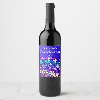 Mosaik-Fliesen-Muster-Wein-Aufkleber Weinetikett