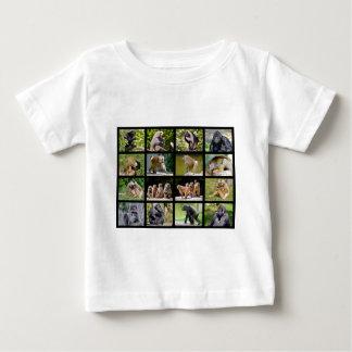 Mosaik-Fotos der Affen Baby T-shirt