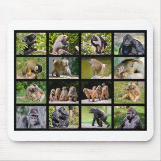 Mosaik-Fotos der Affen Mousepads