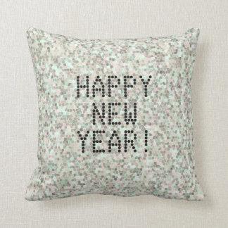 Mosaik-guten Rutsch ins Neue Jahr Kissen