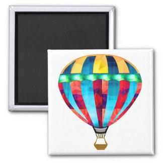Mosaik-Heißluft-Ballon im Rot im Gelb u im Blau Kühlschrankmagnet