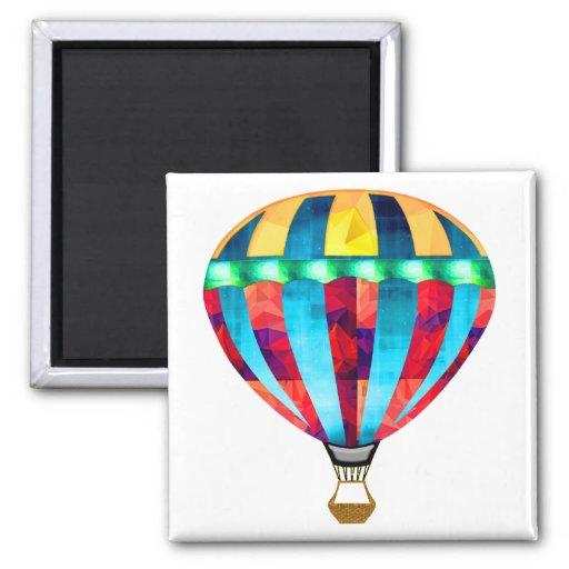 Mosaik-Heißluft-Ballon im Rot, im Gelb u. im Blau Kühlschrankmagnet