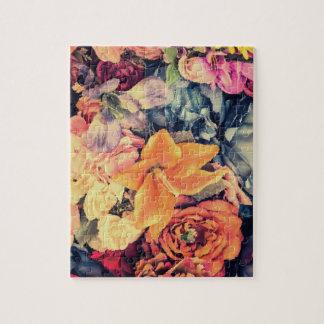 Mosaik-Herbst-Blumen-Puzzle Puzzle