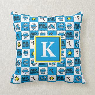 Mosaik Herr-Bump | im blauen Monogramm des Kissen