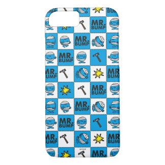 Mosaik Herr-Bump   im blauen Muster iPhone 8/7 Hülle