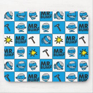 Mosaik Herr-Bump | im blauen Muster Mauspad