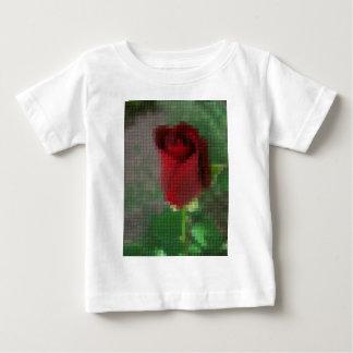 Mosaik-Hochrot-Rote Rose Baby T-shirt