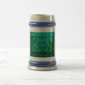 Mosaik-Kasten-Grün Bierglas