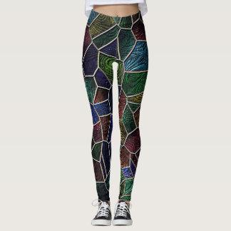 Mosaik Lora, Mehrfarben Leggings