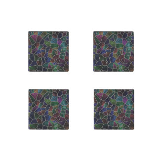 Mosaik Lora, Mehrfarben Stein-Magnet
