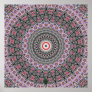 Mosaik-Mandala Poster