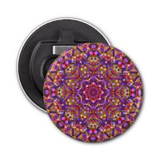 Mosaik-Muster-magnetischer runde Flaschen-Öffner Flaschenöffner