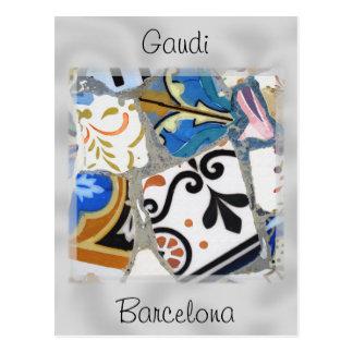 Mosaik-nahes hohes Barcelonas Gaudi Postkarte