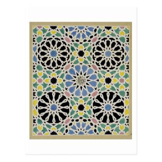 Mosaik-Plasterung im Alhambra, 'vom Araber Postkarte