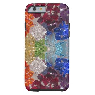 Mosaik-Regenbogen-GlasScherbetelefonkasten Tough iPhone 6 Hülle