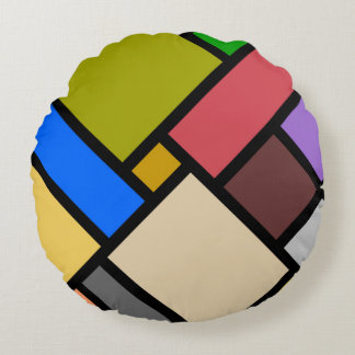Mosaik Rundes Kissen