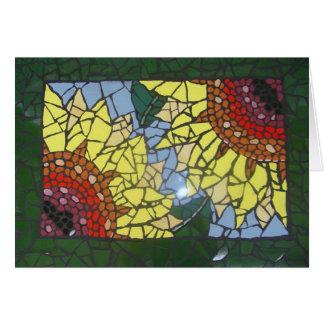 Mosaik-Sonnenblumen Karte