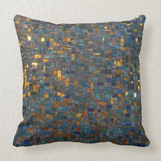 Mosaik-Steine im Blau und im Gold Kissen